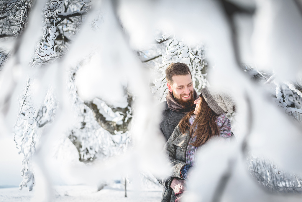 Pärchenfotos Schwarzwald im Winter