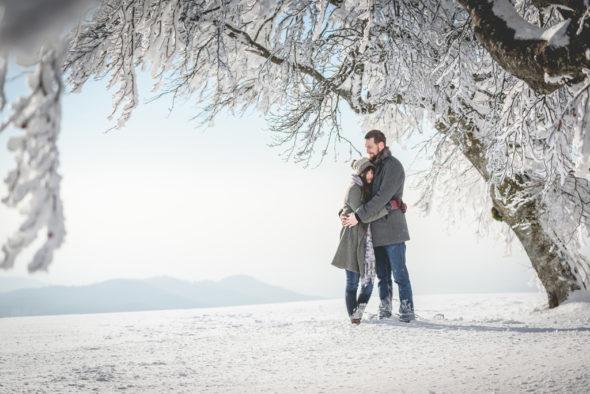 Paarfotos Winter Schwarzwald