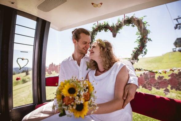 Hochzeitsfotos Seilbahn Feldbergbahn Schwarzwald