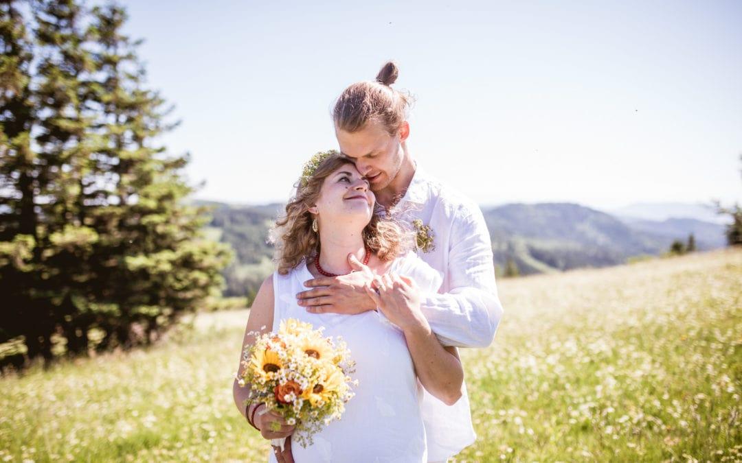 Kleine Hochzeit auf dem Feldberg