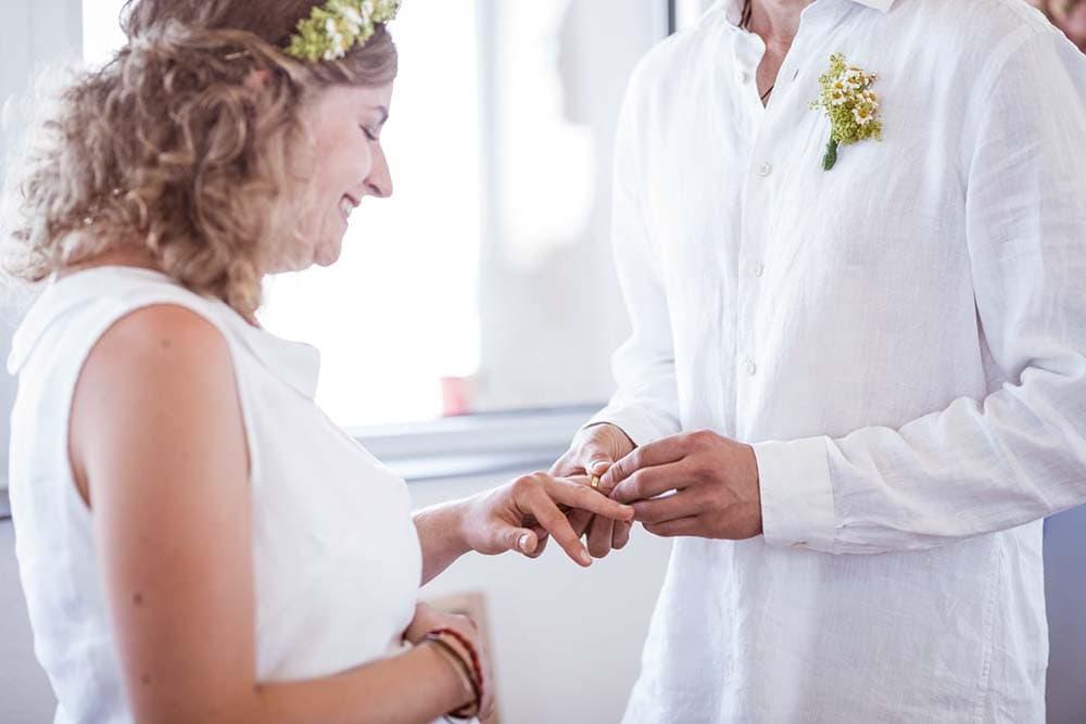 Hochzeitsbilder Freiburg Ringtausch Standesamt