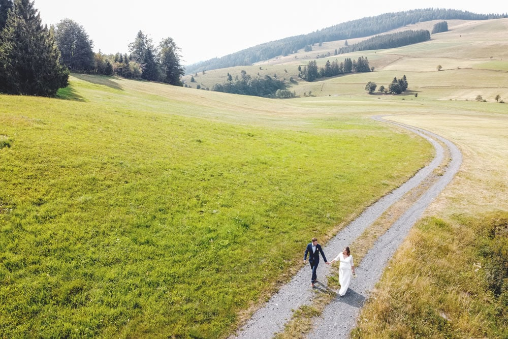 Hochzeitsfotograf Schwarzwald Drohne