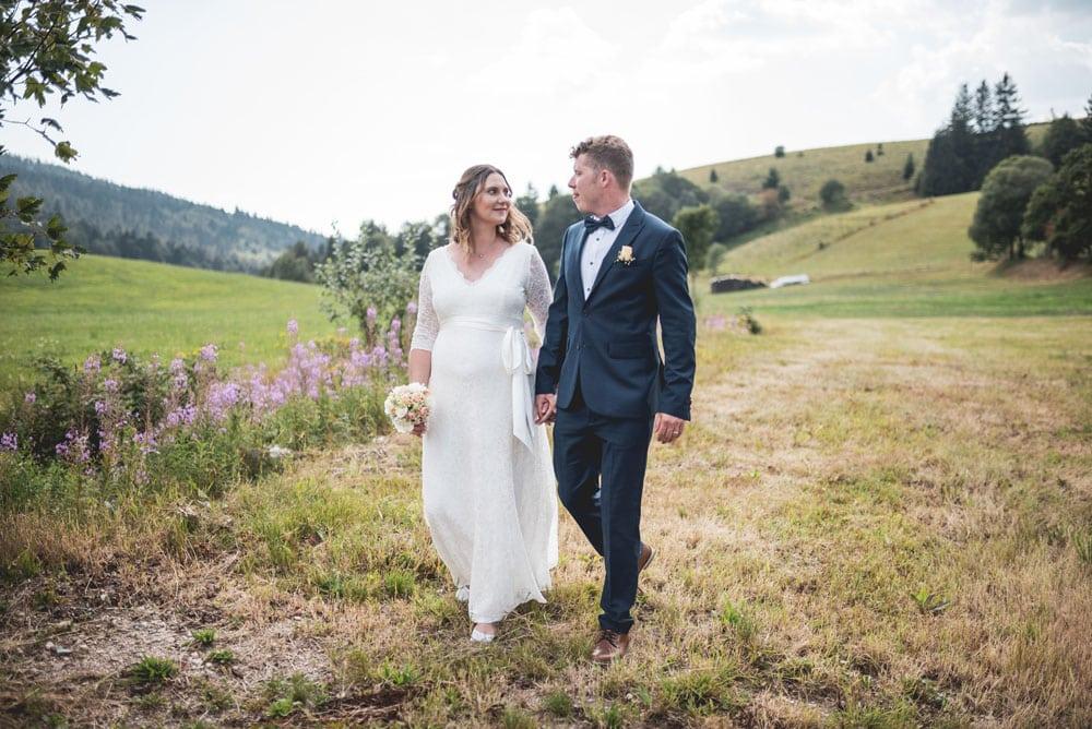 Natürliche Hochzeitsfotos Schwarzwald Freiburg